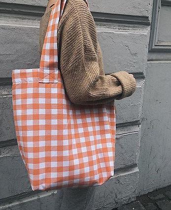 end of roll organic shopper bag orange.j