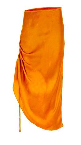 sexy orange silk hand dyed skirt ethical brand SVNR