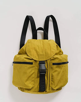 lentil ochre yellow small sportive backpack with black details product image