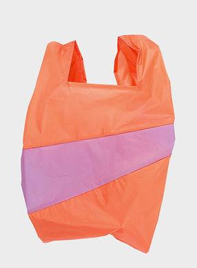 susan bijl new shopping bag orange pink