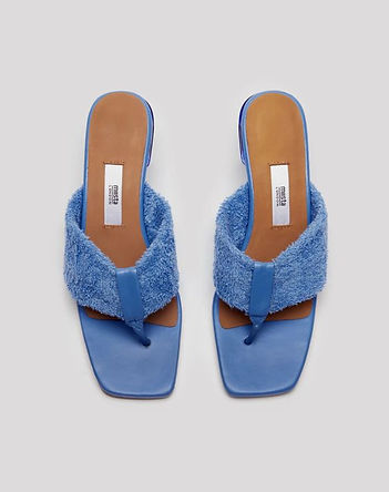 miista blue towel sandals handcrafted in spain
