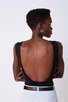 black sexy top with back cut out sustain