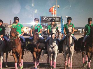 Nuestro equipo femenino de horseball, en el campeonato de España