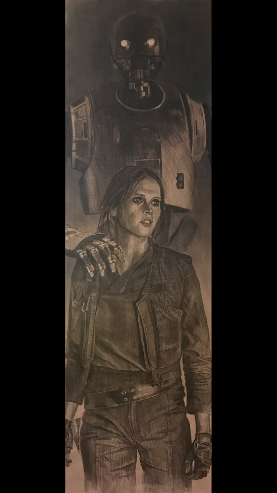Pencil and Airbrush on a Door