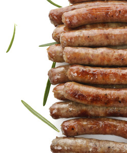 Fried Breakfast Sausage Links,Close Up