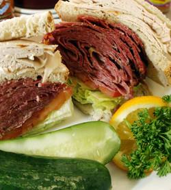 Corned Beed On Rye Sandwich
