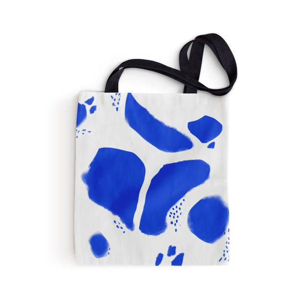 Blue Stains Tote Bag