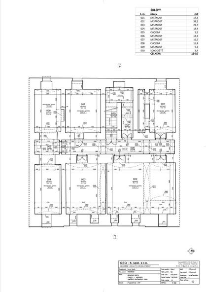 Půdorys 1. podzemní podlaží