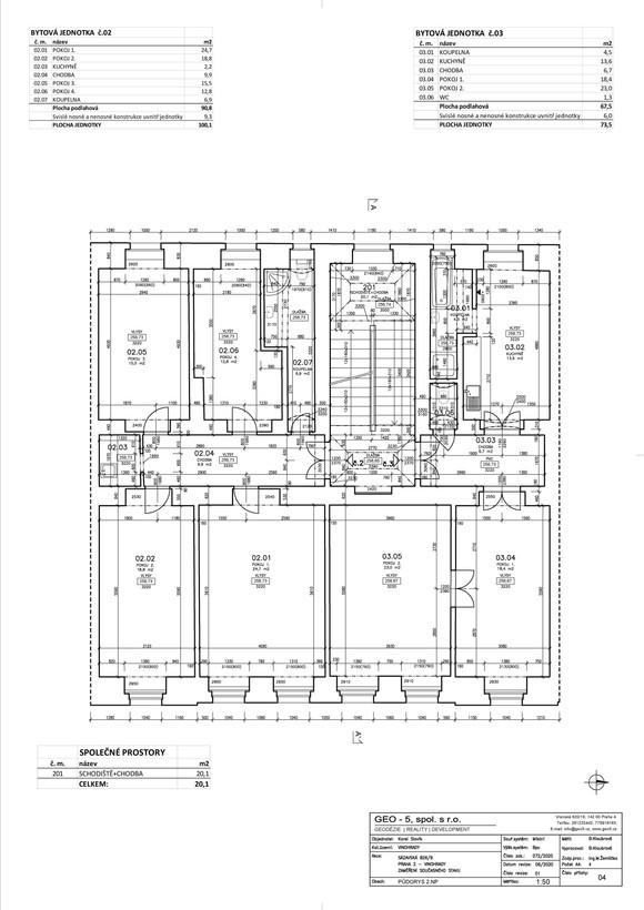 Půdorys 2. nadzemní podlaží