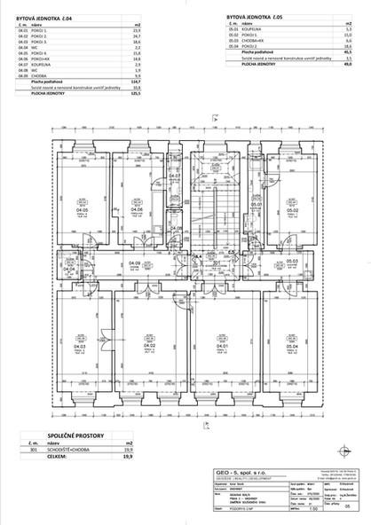 Půdorys 3. nadzemní podlaží