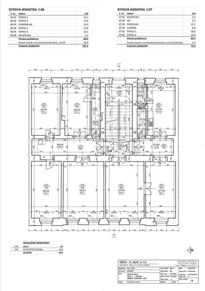 Půdorys 4. nadzemní podlaží