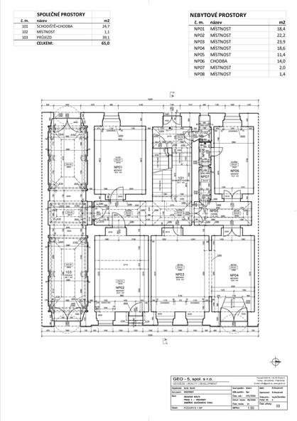 Půdorys 1. nadzemní podlaží
