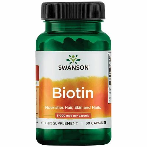 Biotina 5000 mcg 60 cápsulas