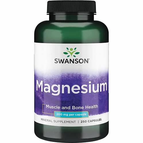 Magnesio 200 mg 250 cápsulas
