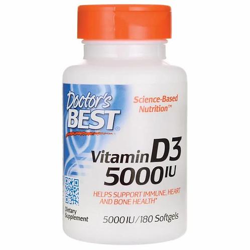 Vitamina D3 5000 i.u. 180 cápsulas