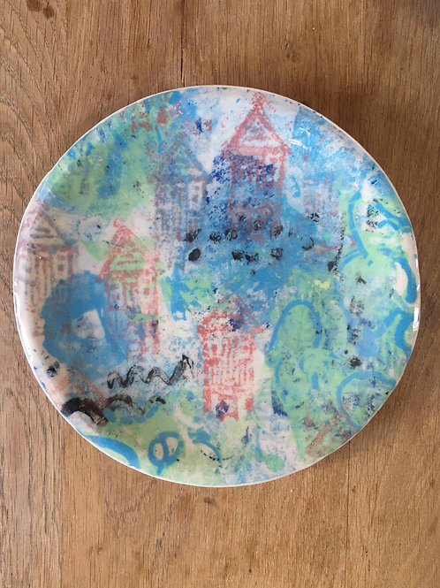 Jolly Printed Beachy Painted Plate