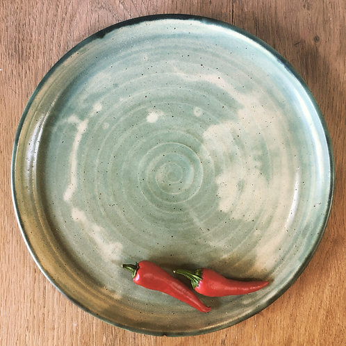 Large Celadon serving platter