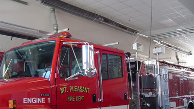 Radiant Tube Heaters In Fire Station