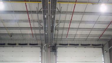 U Tube Heater Near Overhead Doors