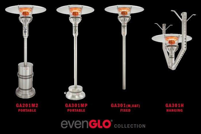 EvenGlo Post Style and Fixed Patio Heaters