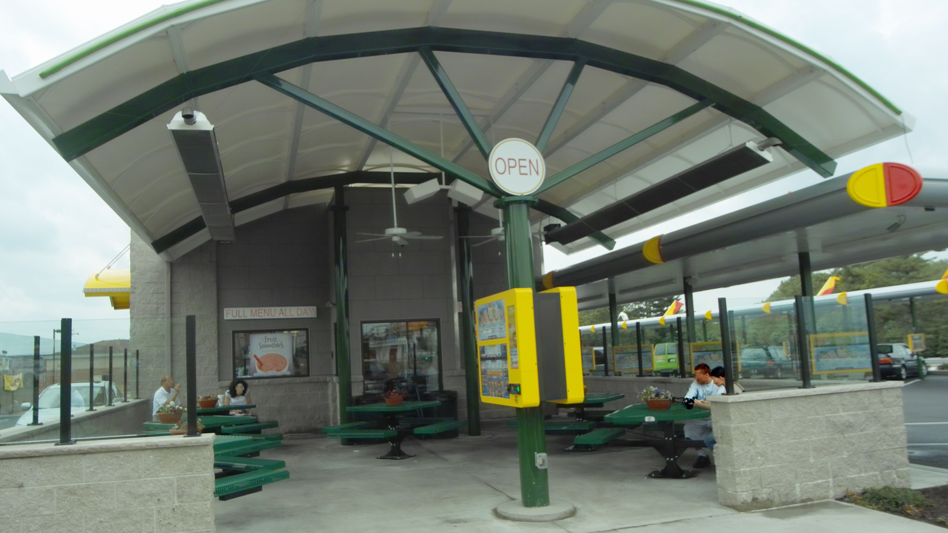 Drive Up Fast Food Restaurant Patio Area