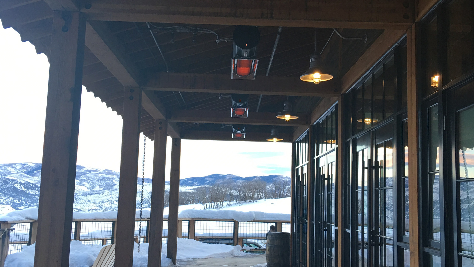 Habanero Heaters Above Patio Deck