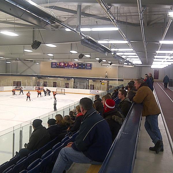 Infrared Tube Heaters in Hockey Venue