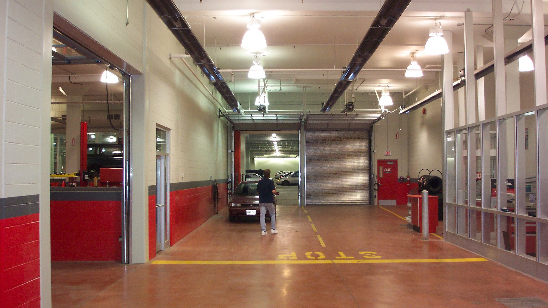Infrared Tube Heaters In Car Service Estimating Area