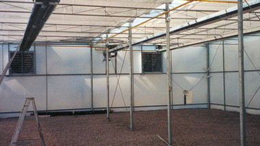 Superior infrared tube heaters in new greenhouse