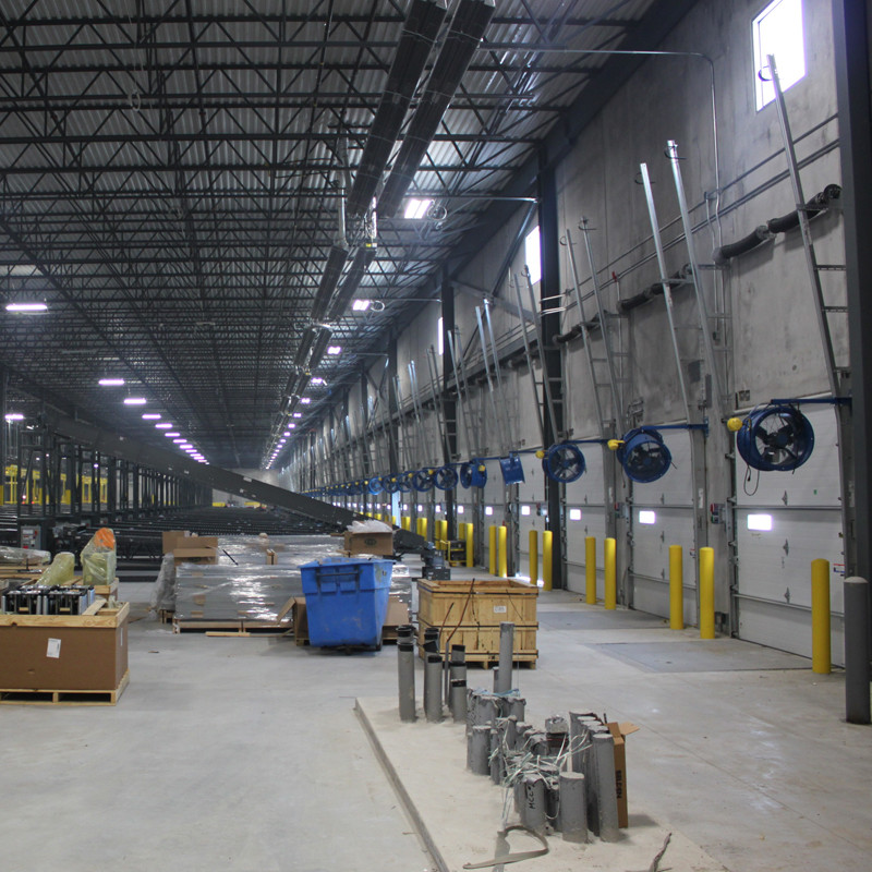 Infrared Tube Heaters in Cargo Facility
