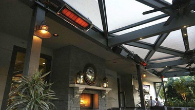 Habanero heaters add to the ambience of patio space