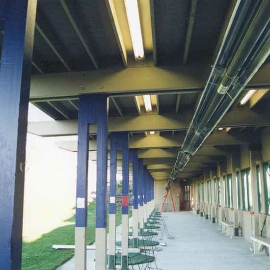 Tube Heaters in Covered Driving Range