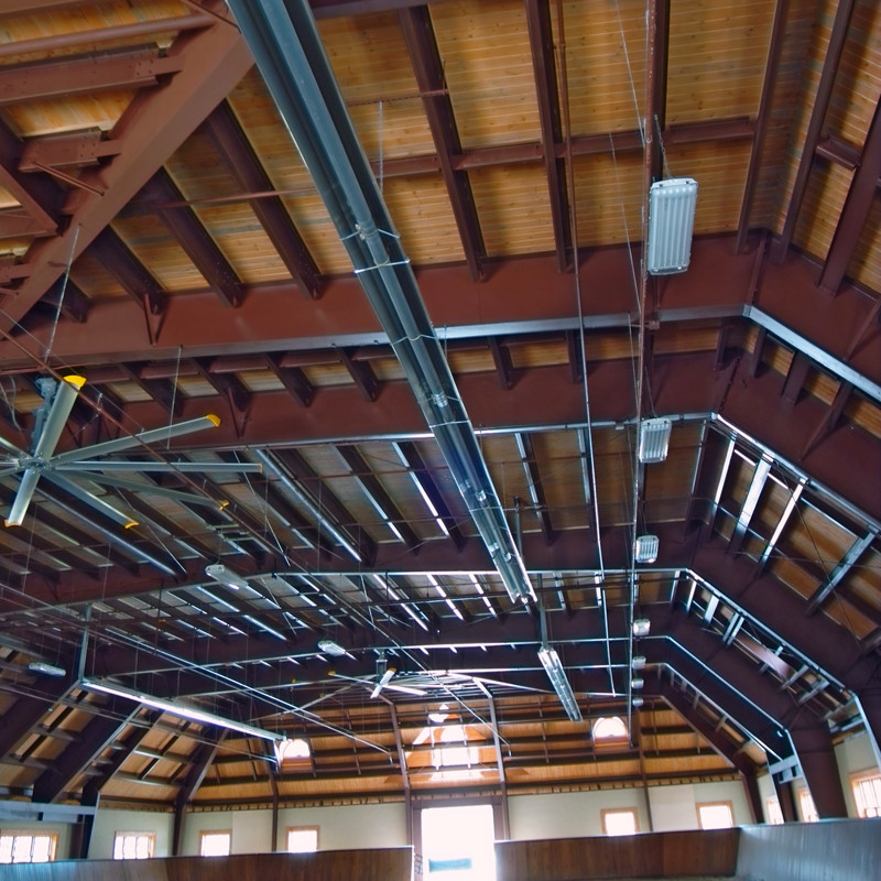 Equine Facility with Infrared Tube Heaters