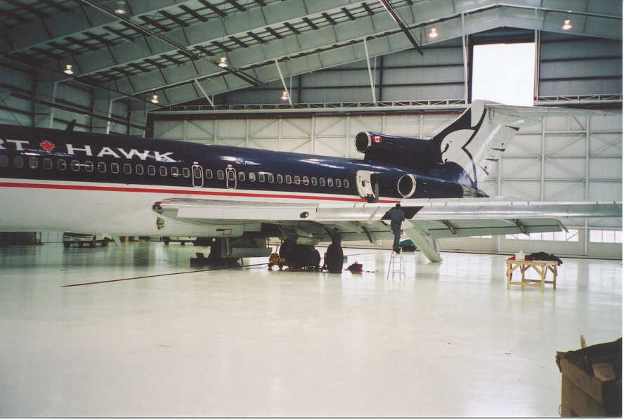 Large Aircraft Hangar Heated with Radiant Tube Heaters