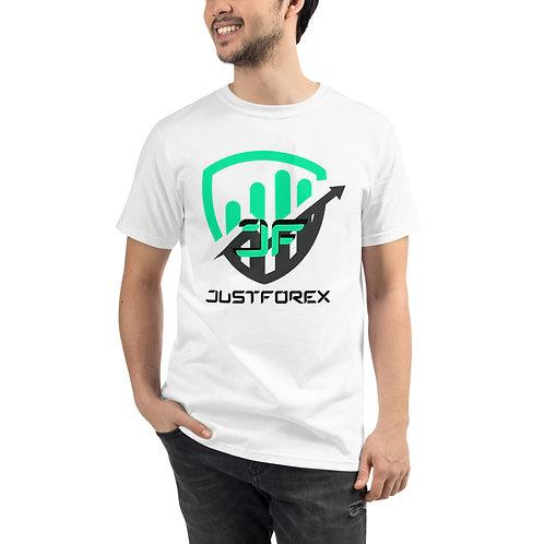 T-shirt BIO - JustForex vert