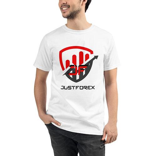 T-shirt BIO - JustForex rouge
