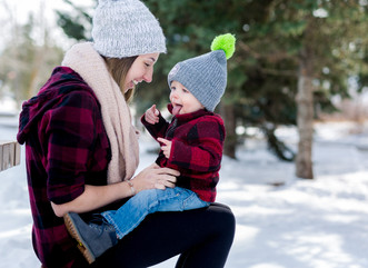 Sarah & Cade ~ Mommy and Me Winter Session