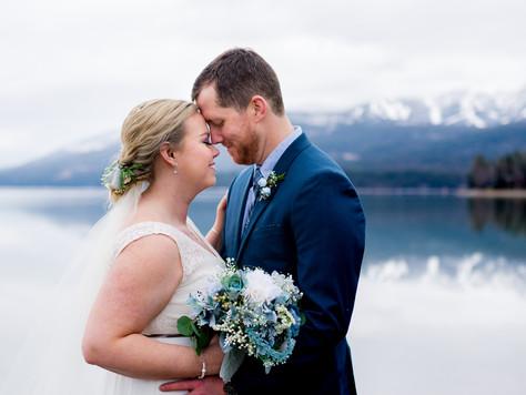 Montana Winter Wedding ~ Britt + Logan