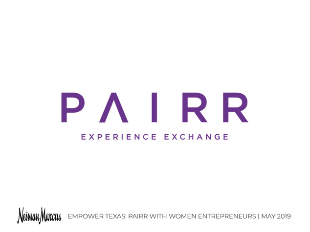 Empower Texas - Pairr with Women Entrepr