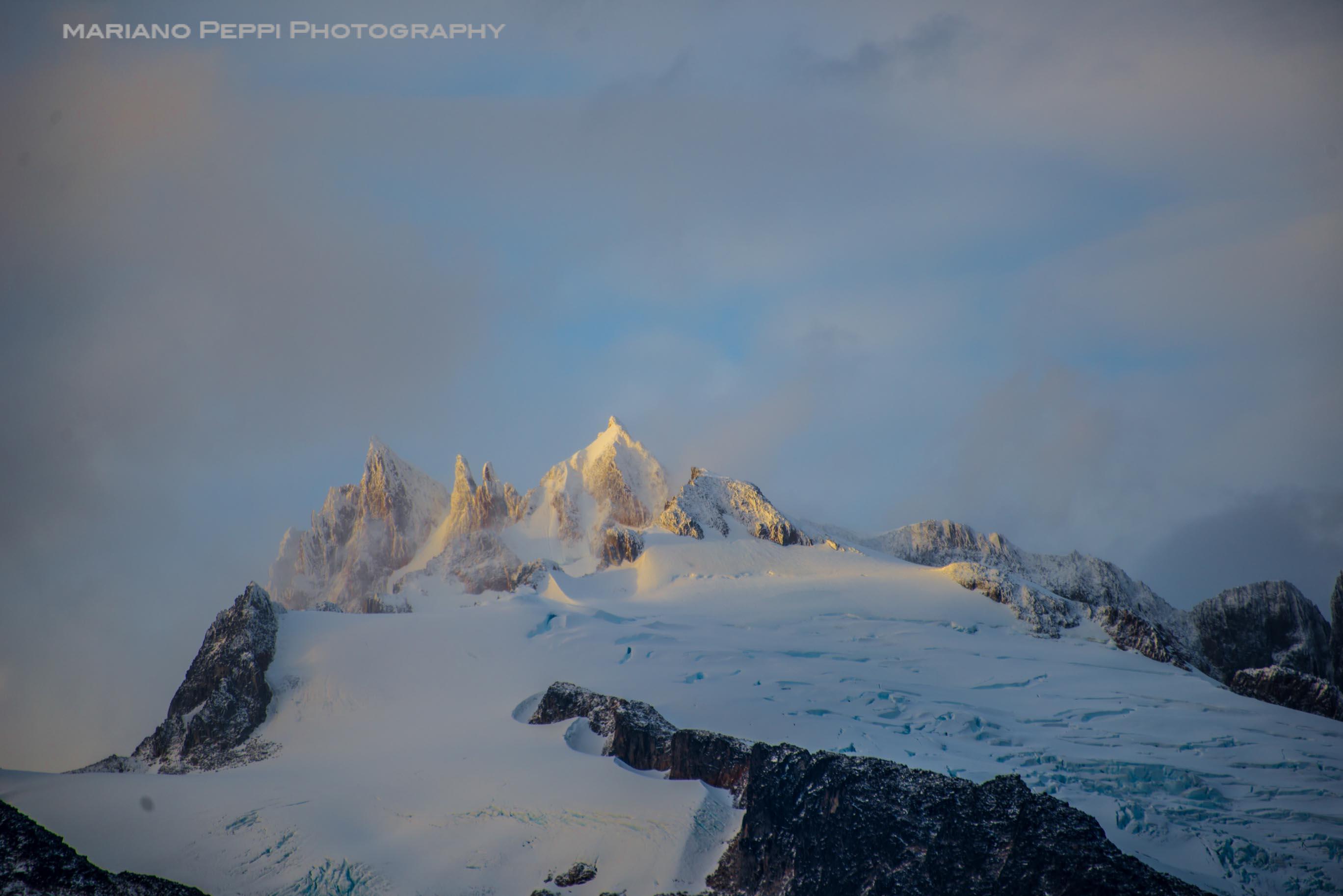 Cumbres de campos de hielo norte