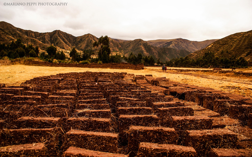 Ladrillos de adobe, Cuzco .