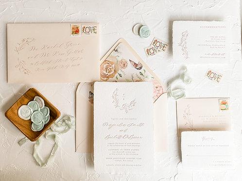The Magnolia Letterpress Invitation Suite