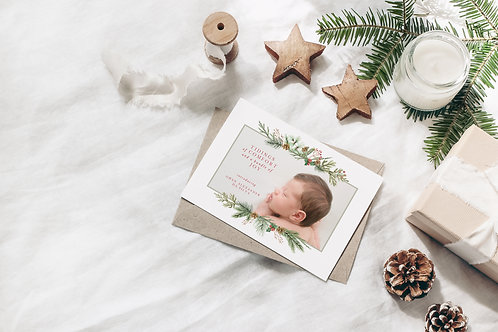 Comfort and a Bundle of Joy Holiday Card