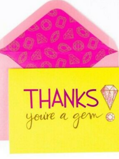 Thanks you're a gem! Sparkly Note Set