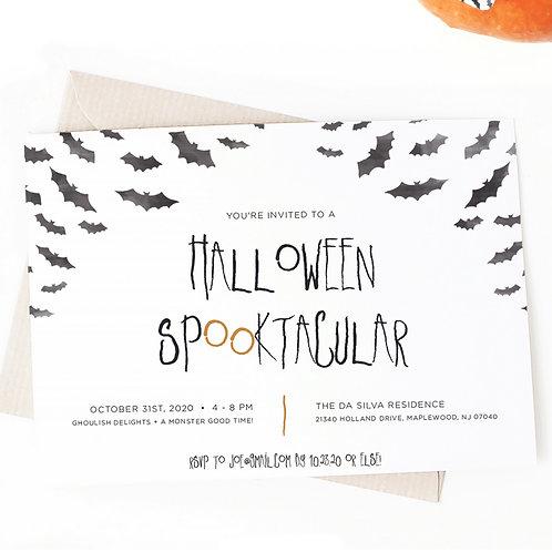 Halloween Spooktacular Invitation Digital Download
