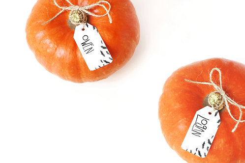 Halloween Place Card Tags Digital Download