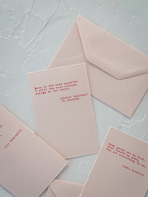 Love Quote Card Set