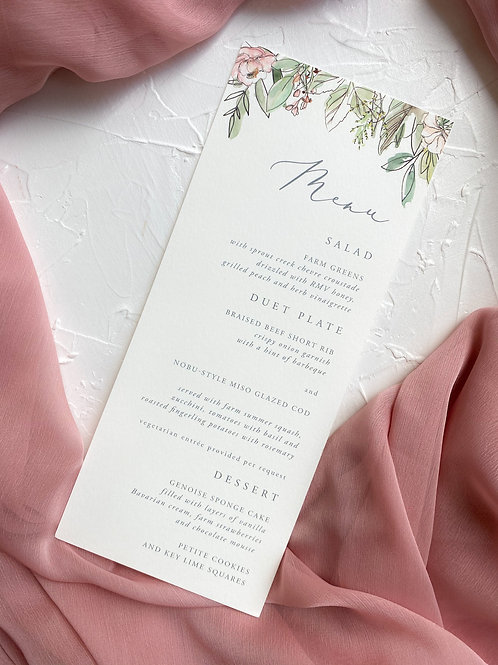 The Gabby Whimsical Floral Menu
