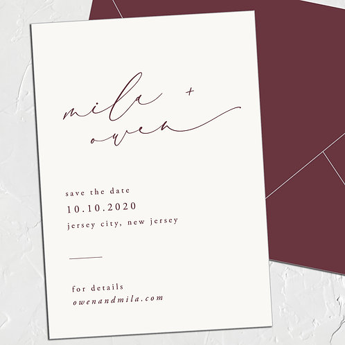 The Mila Save the Date