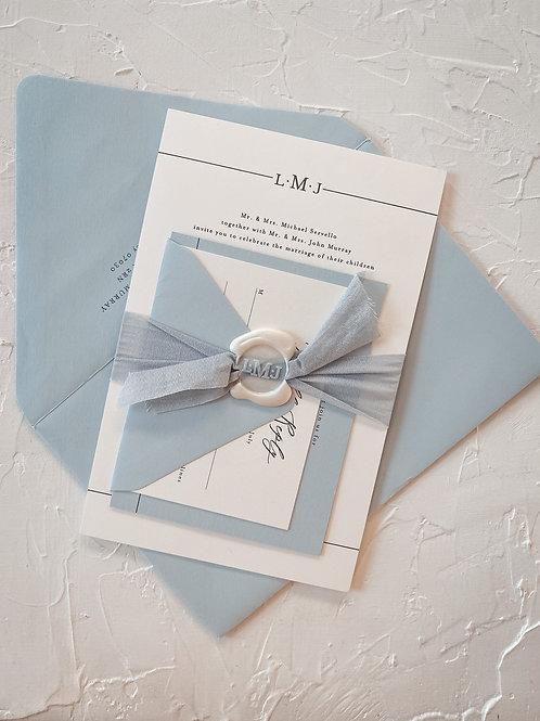 The Lauren Authentic Wax Seal Letterpress Suite